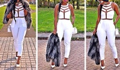 t-shirt,cut-out,white jumpsuit,classy,elegant,top,pants,ebonylace.storenvy,ebonylace-streetfashion,dress,romper