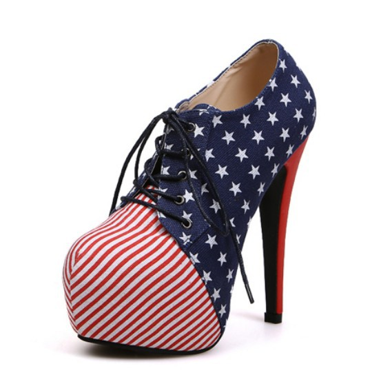 a830a129620a 2013 fashion USA flag 13cm ultra high thin heels women s boots platform  lacing boots shoes high ...