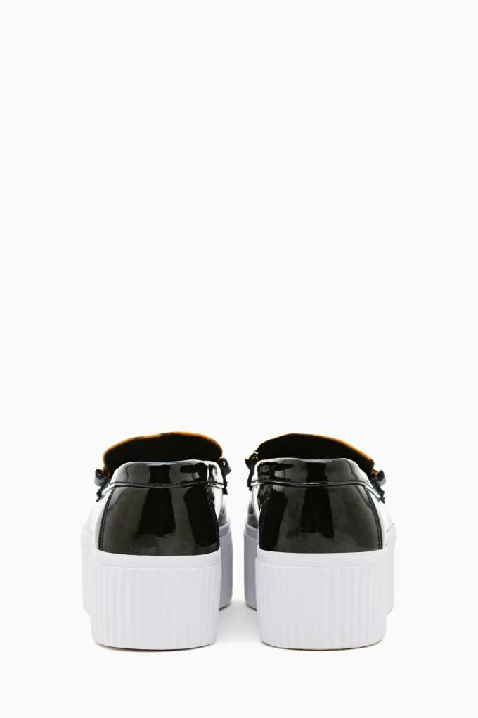 Jeffrey Campbell Luis Chain Loafer - Black Leopard at Nasty Gal