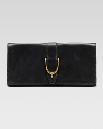 Gucci Soft Stirrup Leather Clutch Bag - Bergdorf Goodman