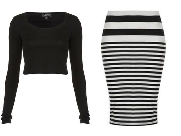 beyoncé skirt black and white body con black top black and white skirt midriff