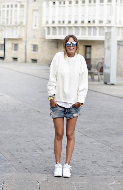rebel attitude blogger sweater shorts