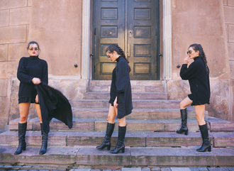 ilirida krasniqi blogger jacket shoes sweater dress