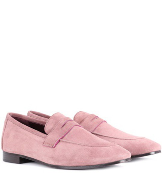 Bougeotte loafers suede pink shoes