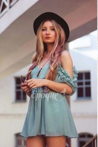 dress blue girly perfect ootd boho trendy girls gorgeous summer hot