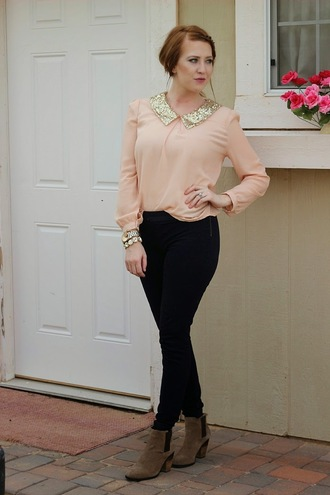 fashion flirtation blogger top jewels pants shoes sequin shirt black pants thanksgiving outfit blouse