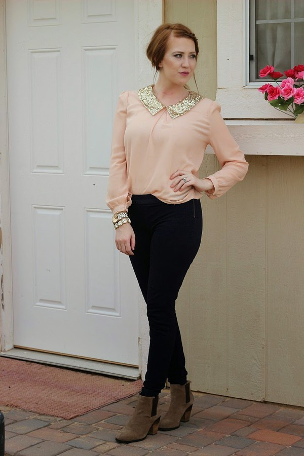 fashion flirtation blogger top jewels pants shoes sequin shirt black pants thanksgiving outfit blouse
