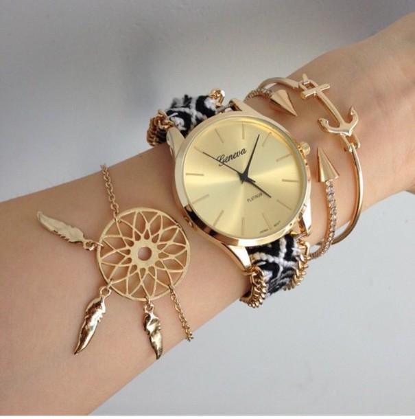 Jewels Jewelry Boho Boho Jewelry Bohemian Gold Bracelets Inspiration Dream Catcher Gold Bracelet