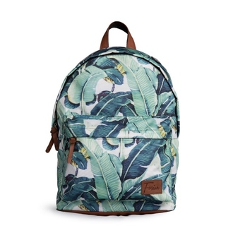 bag fusion clothing backpack rucksack packsack banana leaves print printed all over print full print green leaves leaves prin printed backpack printed bag banana leaves print full prin