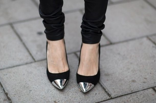 Black With Silver Heels - Red Heels Vip