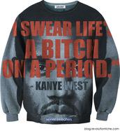 sweater,kanye west