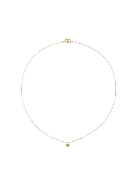 Hum women necklace pendant gold floral grey metallic jewels