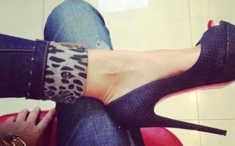 jeans shoes peep toe pumps