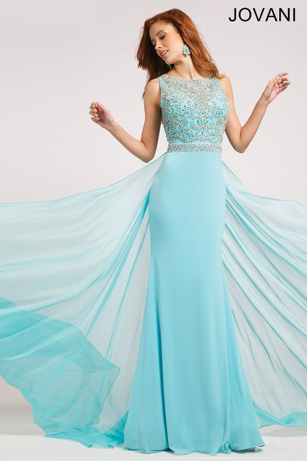 Dress: prom, maxi dress, jovani, blue, gown, long gown ...