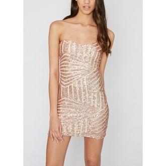 sequin dress party dress nude dress