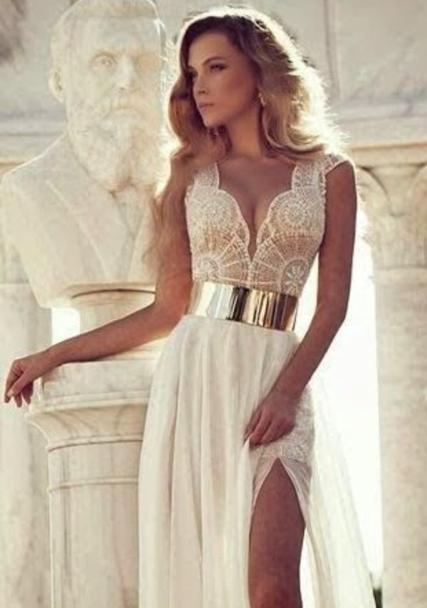 Dress White Dress Gold Dress