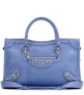 metallic classic bag shoulder bag leather blue