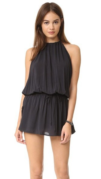 dress halter dress soft black