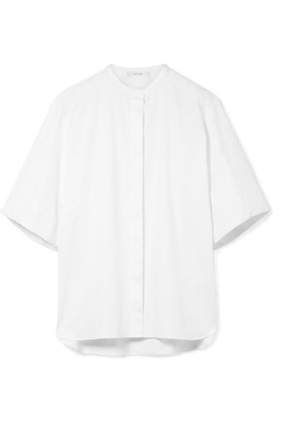The Row shirt white cotton top