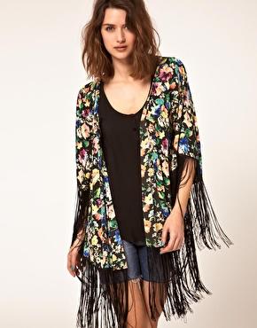 Kimono imprimã© ã franges chez asos