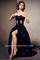 Emma watson dark navy strapless cut out prom dress for gq magazine