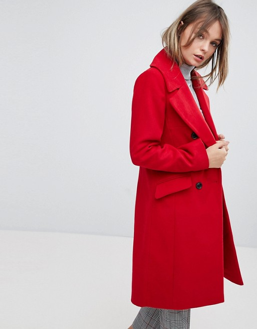 Oasis Tailored Double Breasted Coat at asos.com