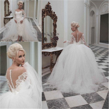 Buy fabulous wedding dresses long sleeves for Aliexpress robes de mariage