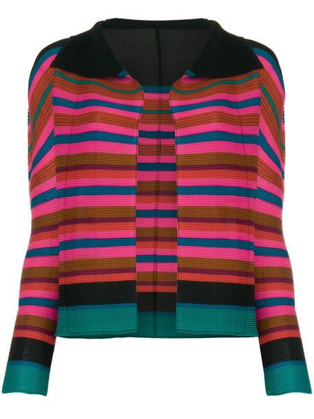 Issey Miyake Cauliflower jacket striped jacket women
