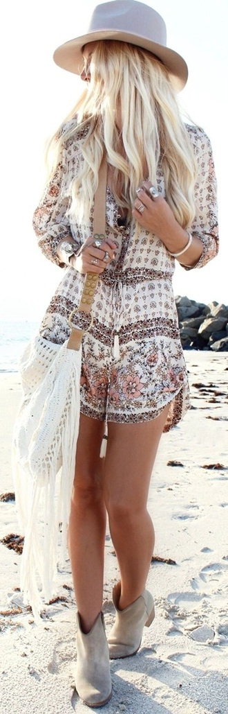 jumpsuit print bohemian shoes