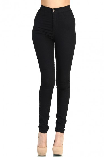 LoveMelrose.com From Harry & Molly | Super high waist fitted skinny jean