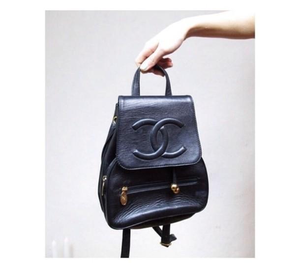 Vintage Chanel Bags Inside Bag Leather Black Chanel