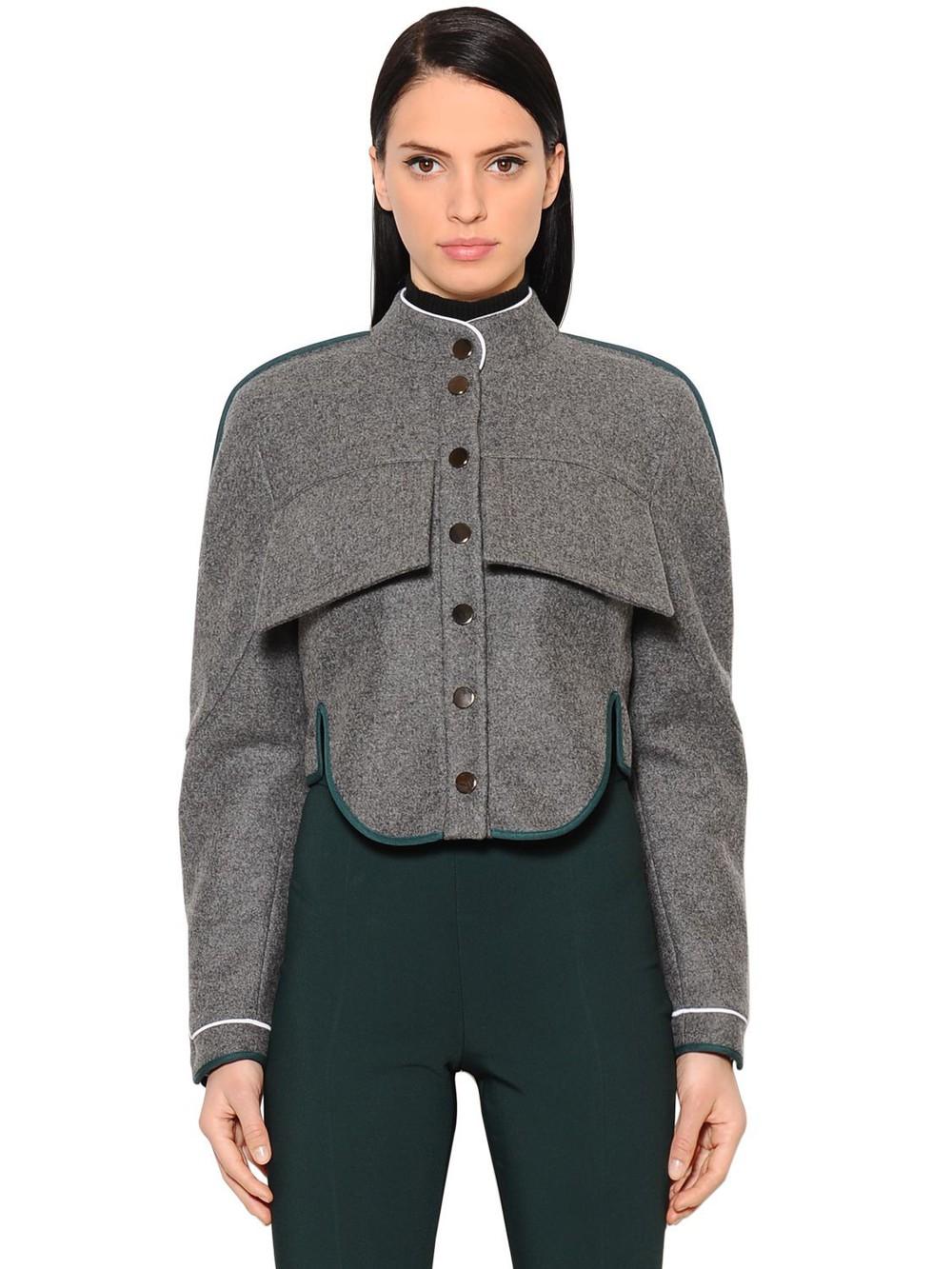 ANTONIO BERARDI Short Wool & Cashmere Jacket in grey