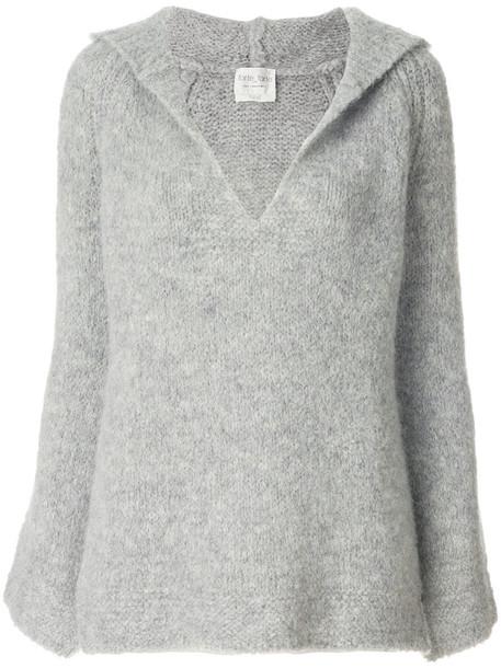 jumper women spandex wool grey sweater