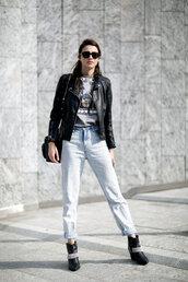 jeans,boots,model off-duty,streetstyle,fashion week 2016,milan fashion week 2016,jacket