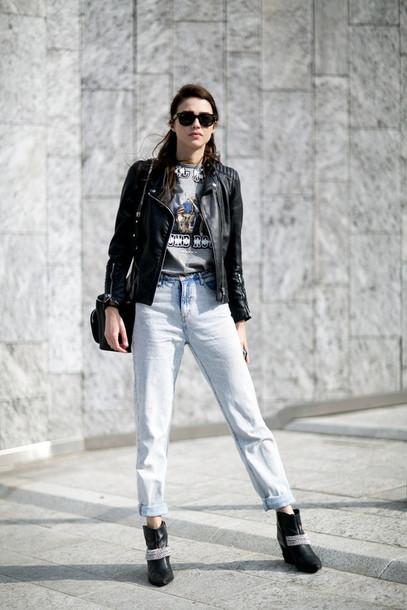 jeans boots model off-duty streetstyle fashion week 2016 milan fashion week 2016 jacket