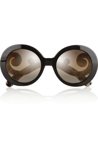 Prada|Round-frame acetate sunglasses|NET-A-PORTER.COM