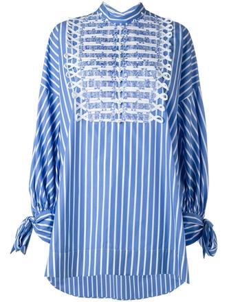 shirt oversized shirt oversized women cotton blue top