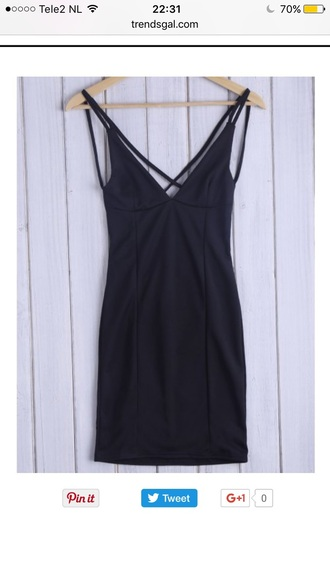 dress little black dress fashion style trendy hot casual black dress trendsgal.com