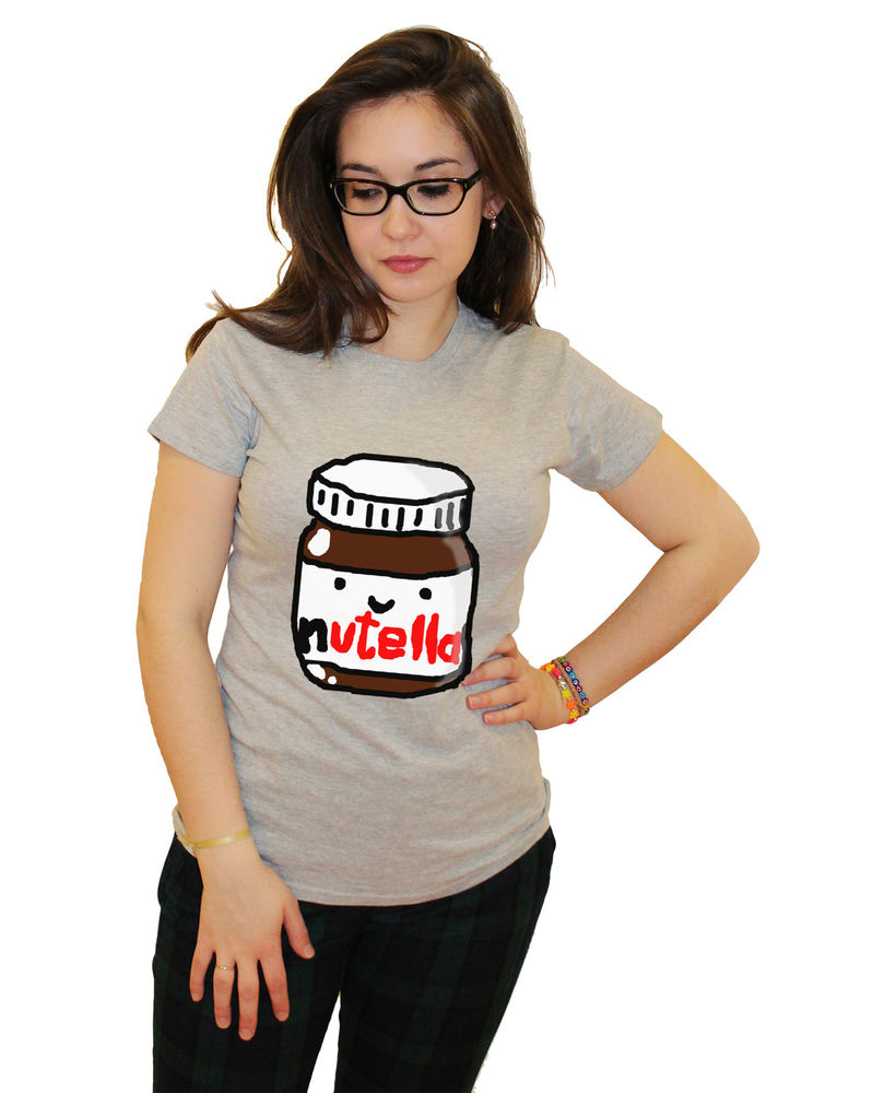 HIPSTER CHOCOLATE NUTELLA ITALY T SHIRT TSHIRT TUMBLR TEE WOMANS CHOC LOVER TOP | eBay