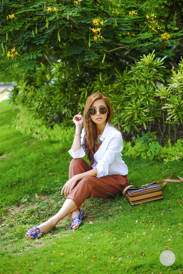 kryzuy top pants shoes bag sunglasses jewels