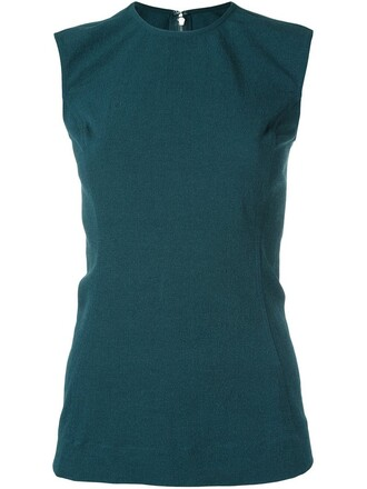 top sleeveless top sleeveless green