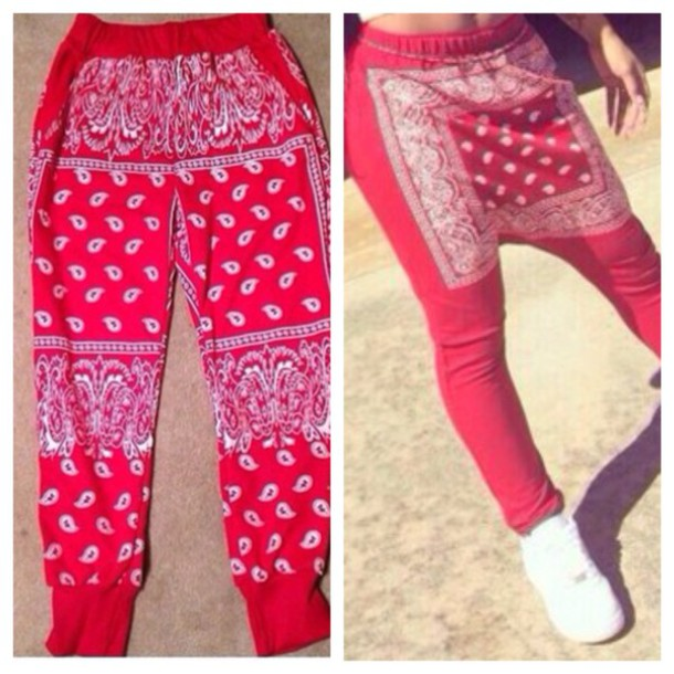 nice red bandana joggers outfit shirts