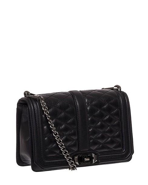 Rebecca Minkoff love leather black bag