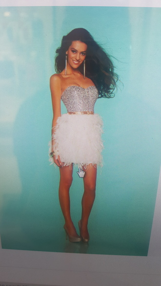 dress feather dress feathers bling dress bling white