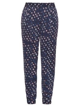 navy print pants