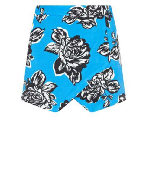 skirt blue skirt floral fashion
