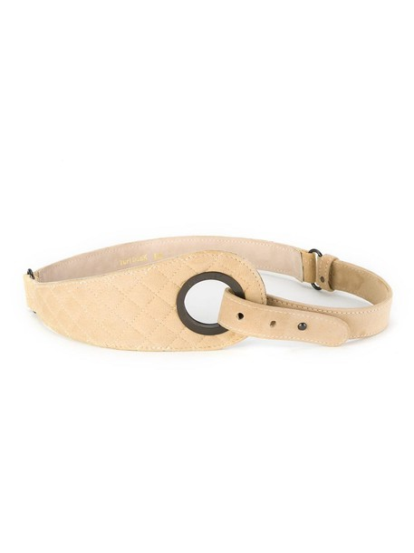 quilted belt nude