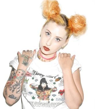 kreayshawn tattoo graphic tee shirt