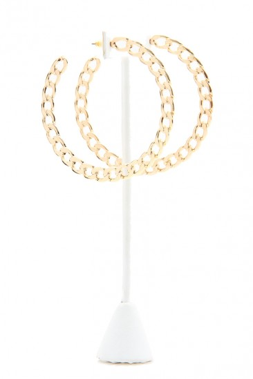 LoveMelrose.com From Harry & Molly | Small Chain Loop Earring - Gold