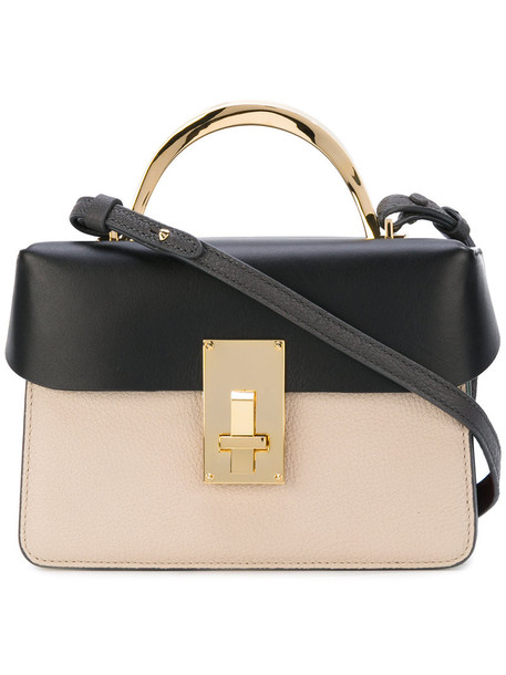 The Volon cross women bag leather nude cotton